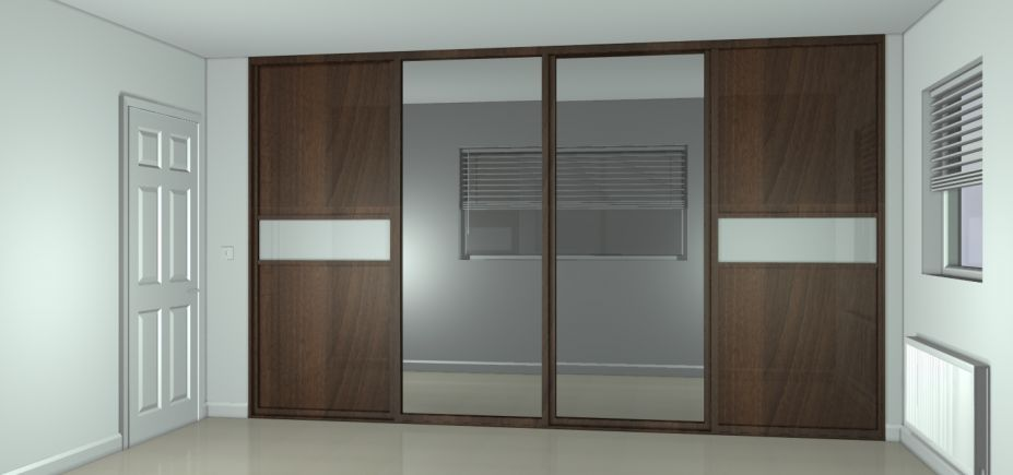 Sliding wardrobes wardrobe designers london by sky kitchens for Sliding wardrobe interior designs